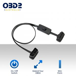 obd2 connector cable 16pin female connector with switch a