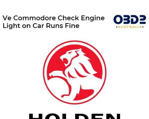obd2 post Ve Commodore Check Engine Light on Car Runs Fine