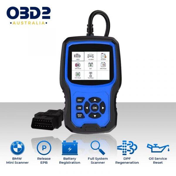 bmw mini obd2 scanner full system abs airbag sas bms dpf a