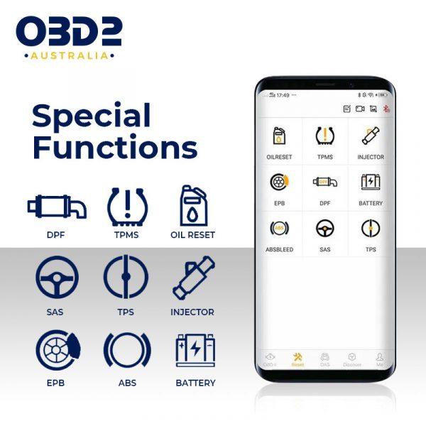 obd2 full system professional scan tool bluetooth d