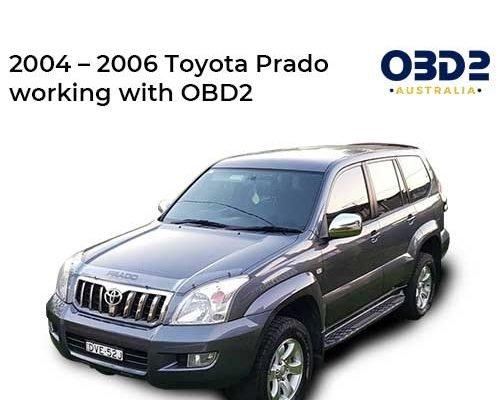 obd2 post 2004 2006 Toyota Prado working with OBD2