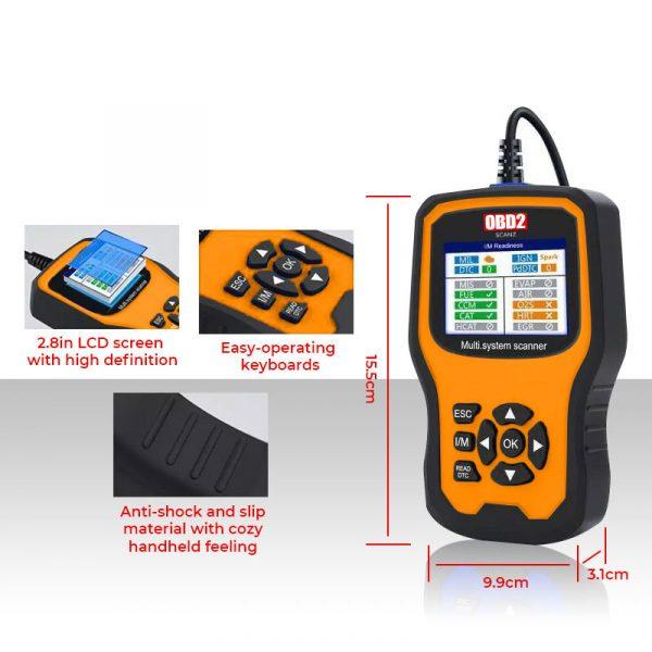 vw audi obd2 scan tool full system f