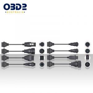 truck diagnostic obd2 adapter cables 8 piece set a
