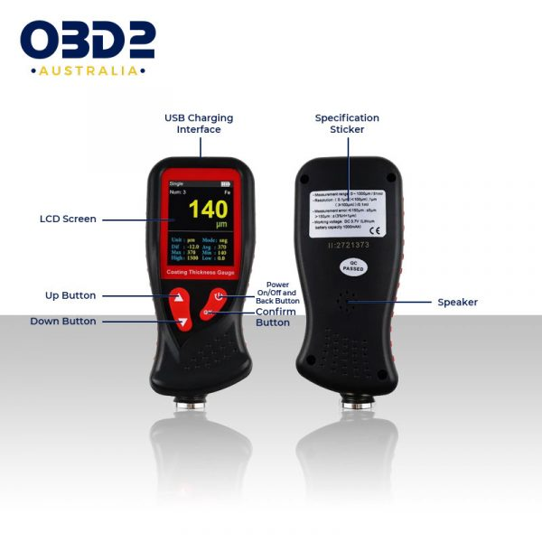 professional paint coating thickness gauge meter e