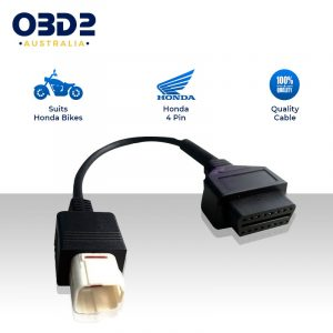 honda motorcycle obd connector 4 pin to obd2 adaptor cable a