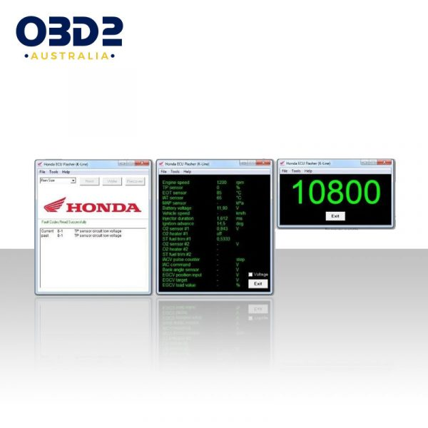 honda motorcycle obd connector 4 pin to obd2 adaptor cable c