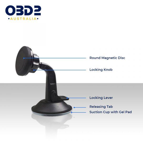 car phone mount 360 rotation magnetic phone holder d