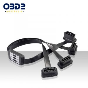obd2 3 way splitter extension cable with switches a