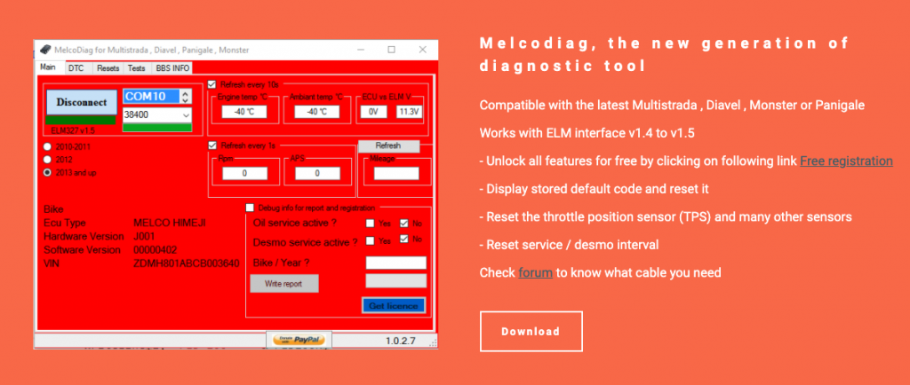 Melcodiag Scan Software