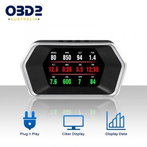 car hud digital boost gauge obd2 speedometer a
