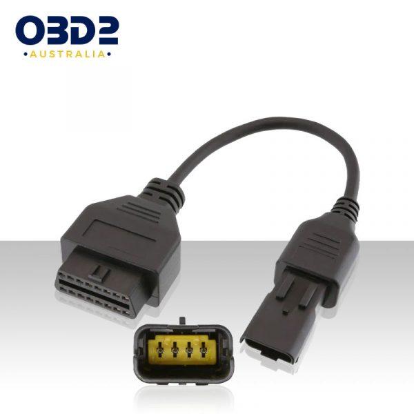 ducati diagnostic tool 4 pin to obd2 adaptor jpdiag melcodiag a