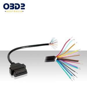 obd2 16 pin j1962 female diagnostic cable open end a