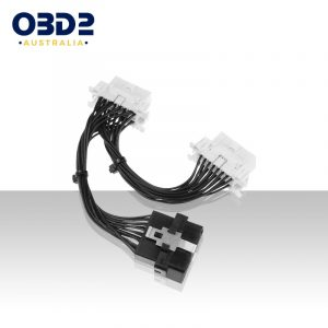 16 pin obd2 j1962 dual female y splitter wiring harness cable 16 wires a
