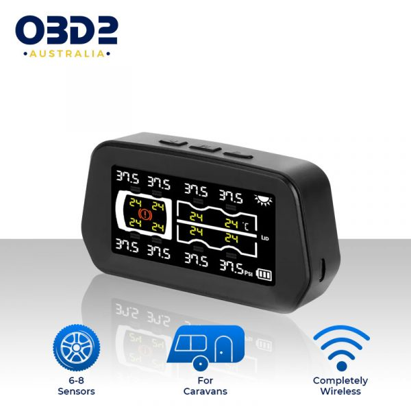 caravan tyre pressure monitoring system tpms 6 8 sensors a