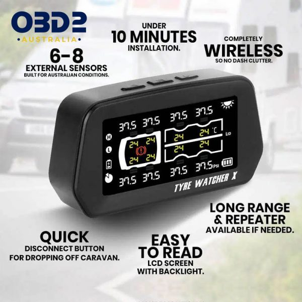caravan tyre pressure monitoring system tpms 6 8 sensors b