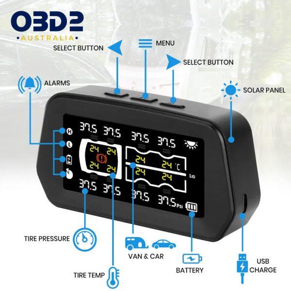 caravan tyre pressure monitoring system tpms 6 8 sensors c
