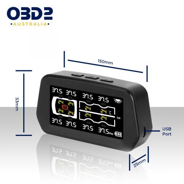 caravan tyre pressure monitoring system tpms 6 8 sensors f