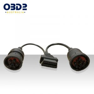 truck j1939 9 pin j1708 6 pin to obd2 adaptor cable a