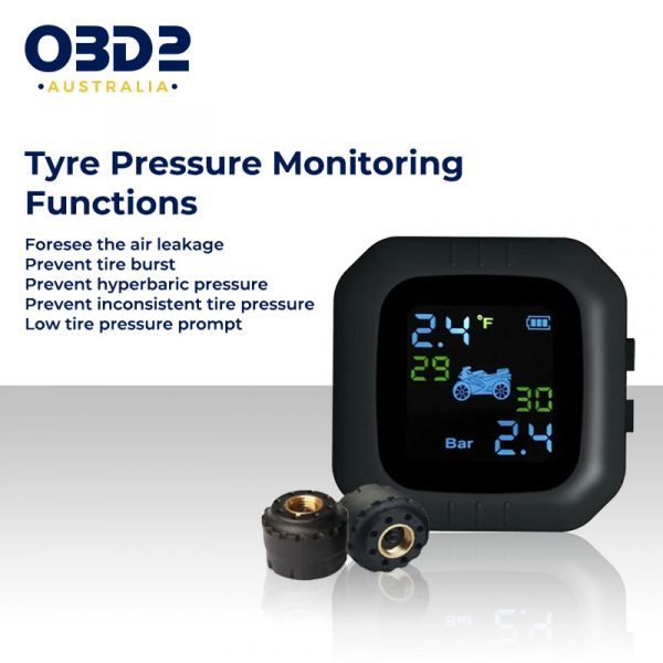 rechargeable motorcycle tyre pressure monitor tpms a