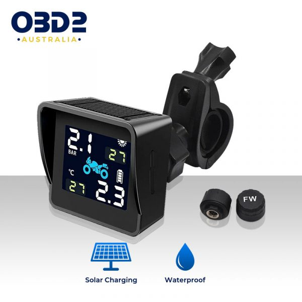 solar motorcycle tyre pressure monitor tpms a